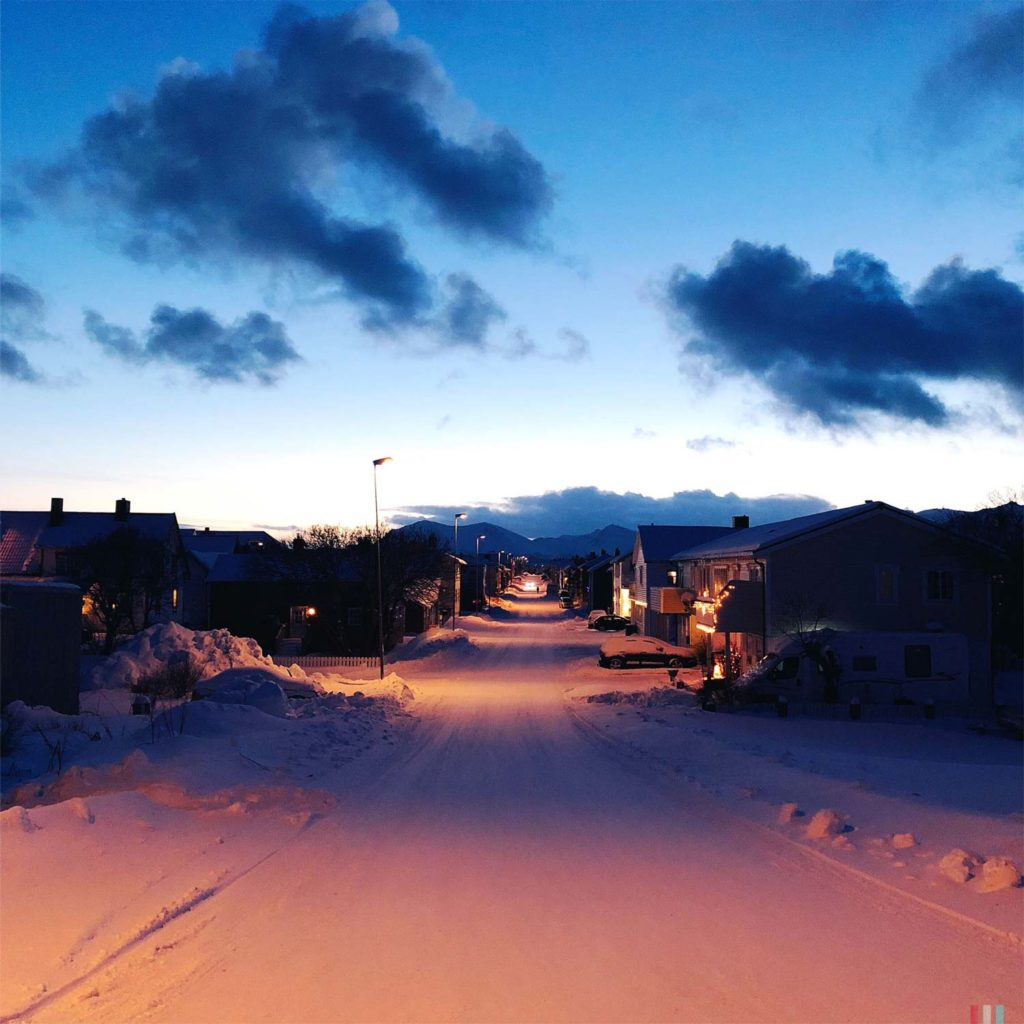 Winter Whale Watching in Norway: Streets in Andenes.