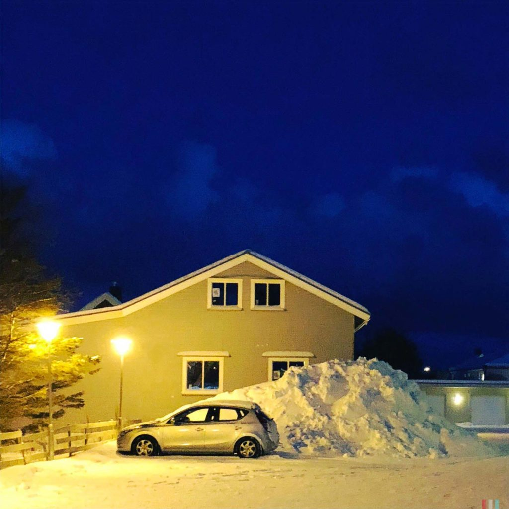Winter Whale Watching in Norway: Some snow in Andenes.