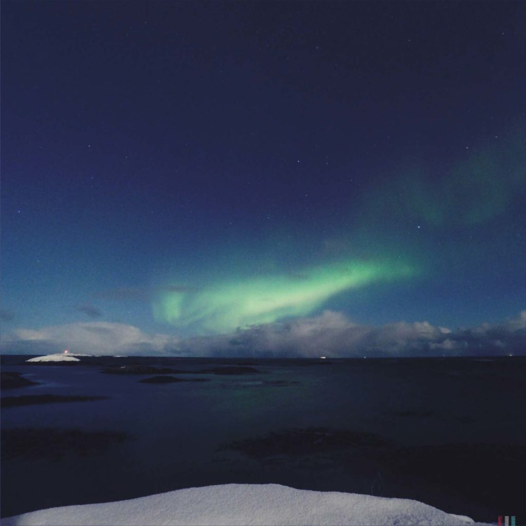 Winter Whale Watching in Norway: Northern Lights in Andenes.