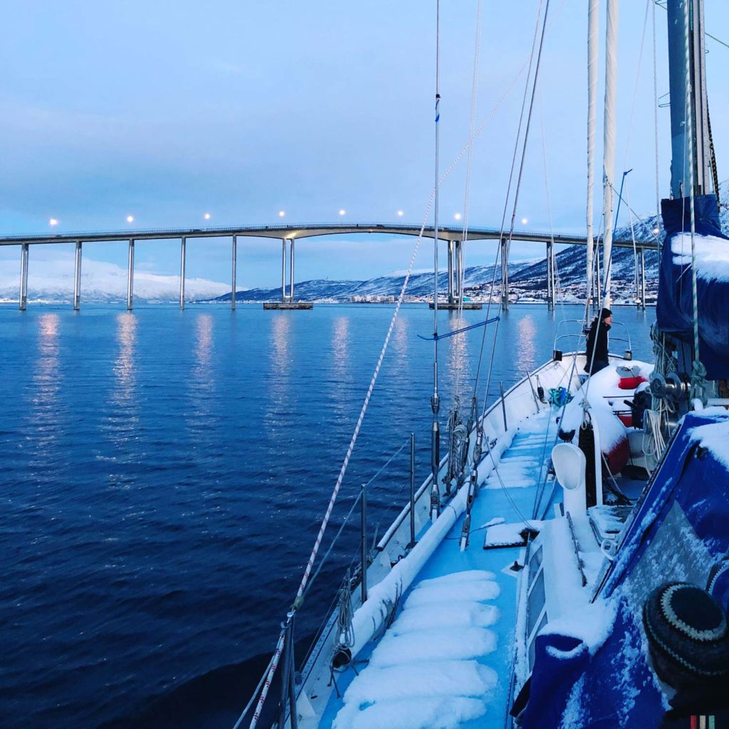 Winter Whale Watching in Norway: On our way to Skjervøy.