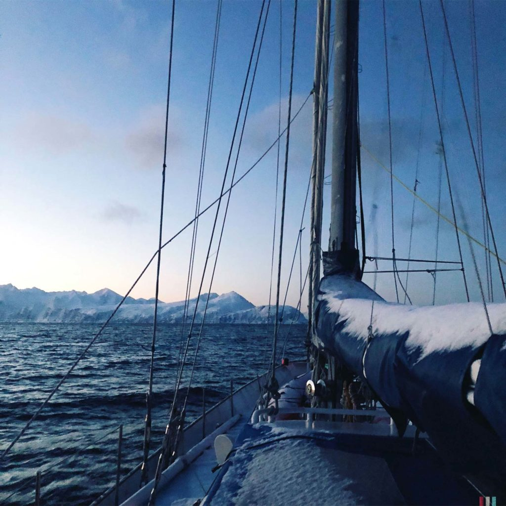 Winter Whale Watching in Norway: Morning view on deck of the Southern Star.