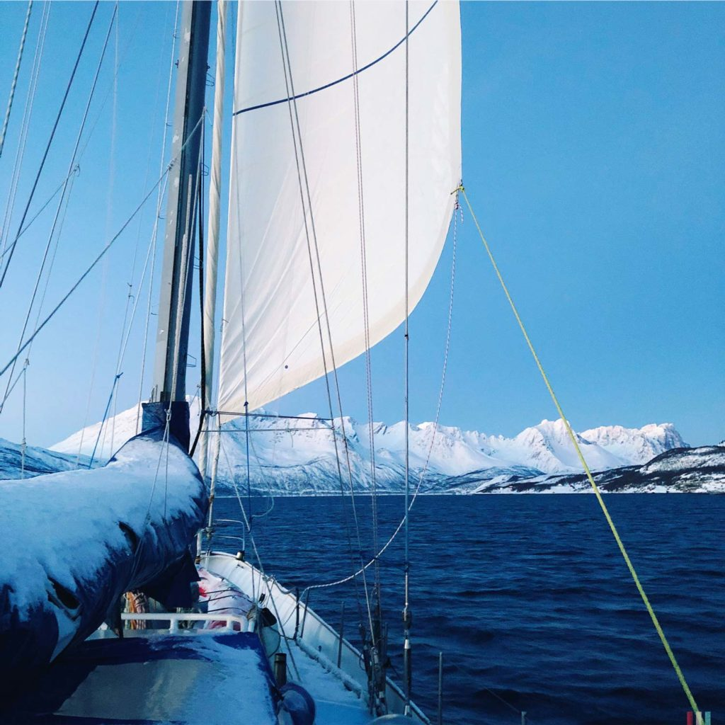 Winter Whale Watching in Norway: On deck of the Southern Star.